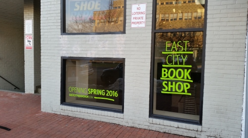 Future home of East City Bookshop