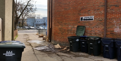 An alley running behind the proposed store opens onto Massachusetts Avenue on one end....