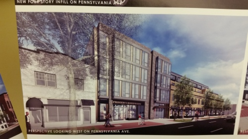 Frager's will occupy the ground floor of the new four story infill.