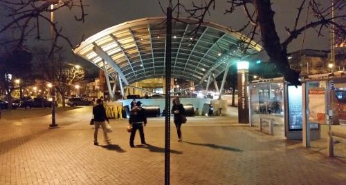 Eastern Market Metro, circa 7:00pm, Thursday night