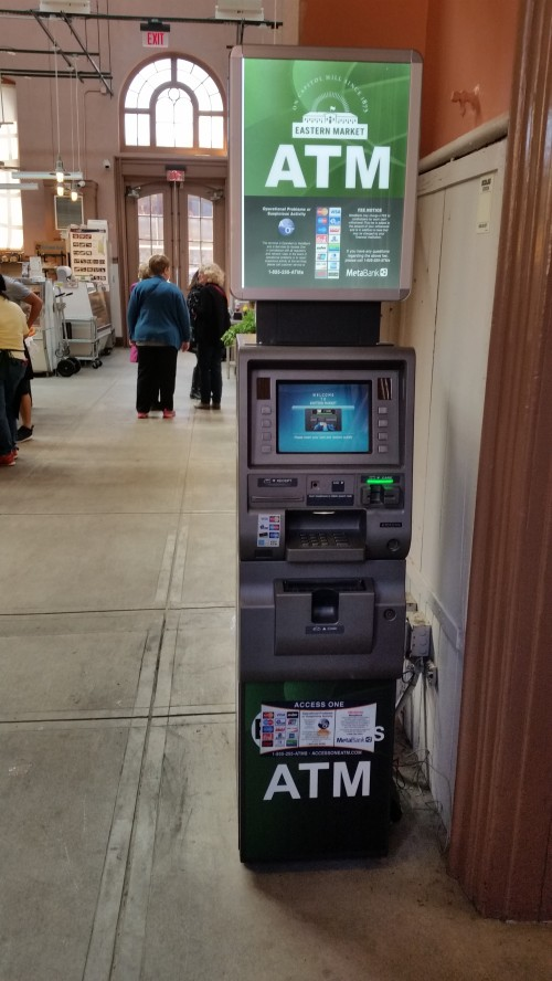 This ATM in Eastern Market was the target of thieves who took an undetermined amount of money from the machine early Friday morning.