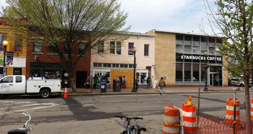 The future home of & Pizza on Barracks Row remains boarded up after a stop work order, but construction may resume shortly.