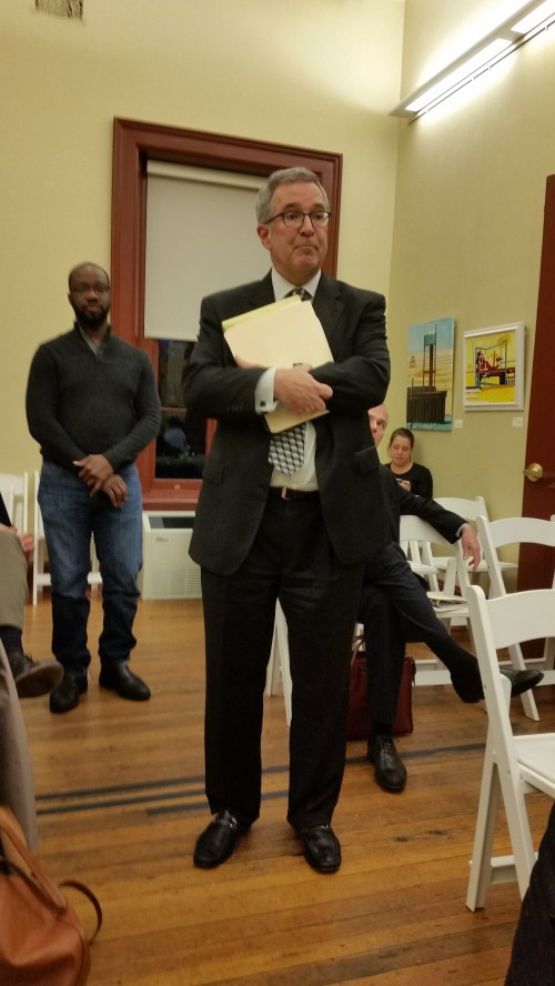 Attorney Andrew Klein addresses ANC6B Alcohol Beverage Control Committee