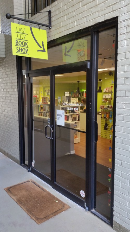 East City Book Shop, 645 Pennsylvania Avenue, SE.  An locally owned independent book shop