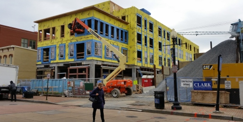 The North Building - with most of the affordable units - is scheduled for completion this fall