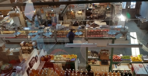 View of  a part of Eastern Market's South Hall from the Market Manager's Office
