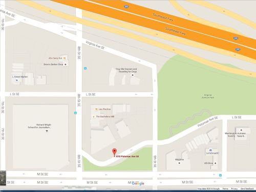 Map showing location of proposed rehab facility.  Courtesy of Google Maps.