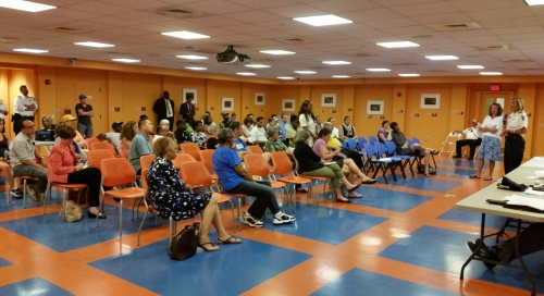 Some 50 community members turn out to talk about crime in Hill East