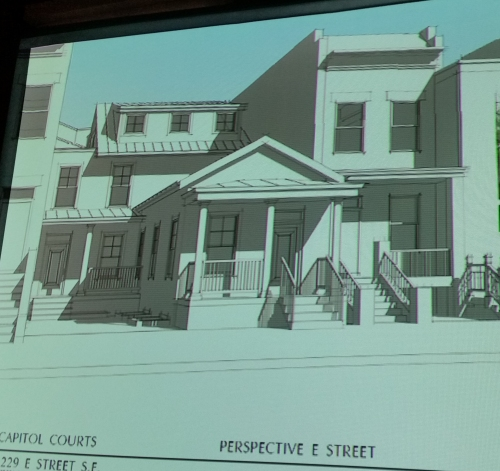SGA Architect's plan for preservation of the Shotgun House submitted to ANC6B Planning and Zoning Committee on July 1.