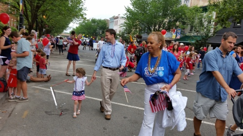 Ward 6 Councilmember Charles Allen marched...