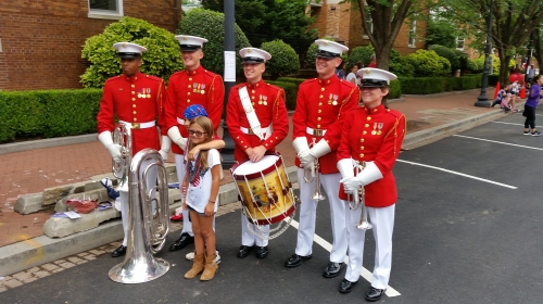 The Marine Corps Band engages in a little public relations