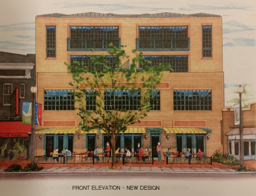 8th Street Elevation of the Proposed Mixed Use Building at 507 8th Street on Barracks Row