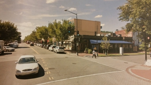 Elevation of the proposed project from 8th and E Streets, SE.