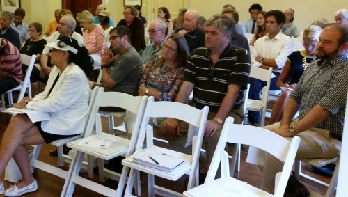 Some of the community stakeholders who turned out for Tuesday night's community meeting on the proposed Main Street