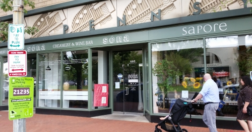 The former home of Sona Creamery and Wine Bar scheduled for re-purposing as a new Spanish restaurant