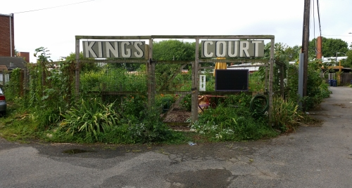 The main entrance to King's Court Community Garden (click to enlarge)