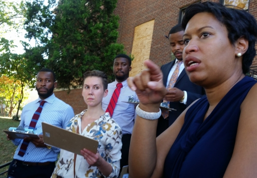 The tour ended in front of the Boys and Girls Club where Bowser, surrounded by agency representatives, summarized the issues which had been brought to her attention and got commitments from city employees regarding what steps they would take to address those issues.