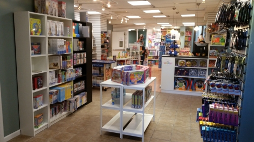 Here's a shot of the new space which is devoted to games for children.