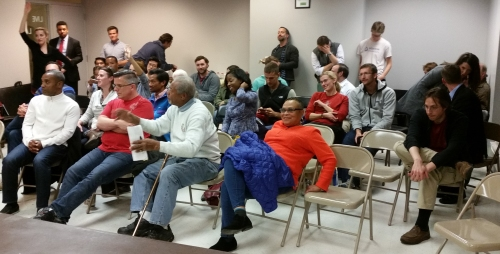 More than 30 concerned nearby neighbors Showed up for the Chik-fil-a presentation.