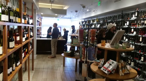 This was the scene Sunday afternoon in DCanter Wine Boutique on Barracks Row, at 548 8th Street, SE, c. 3:45pm.