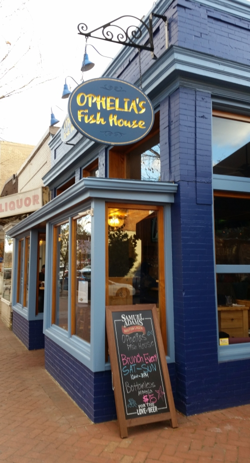 On Wednesday last, the Chesapeake Room reopened as Ophelia's Fish House on Barracks Row - 501 8th Street, SE.