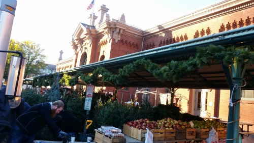 The holiday season arrives at Eastern Market. Saturday, November 26, 2016, circa 9:00am.