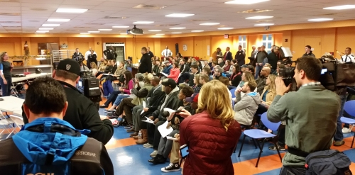 100 Plus showed up for last night's community crime meeting at St. Coletta's of Greater Washington