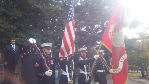 The Presentation of Colors by the United States Marine Corps Color Guard