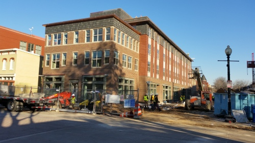 North Building, Hine project, from 7th and C Streets, SE, Tuesday, December 20.