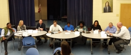 ANC6A Commissioners:   from left:  Calvin Ward, 08; Stephanie Zinny, 06; Michael Soderman, 03; Phil Toomajian, 02; (staff), Sondra Phillips-Gilbert; Marie-Claire Brown, 01; Matt Levy, 04; Patrick Malone, 05.