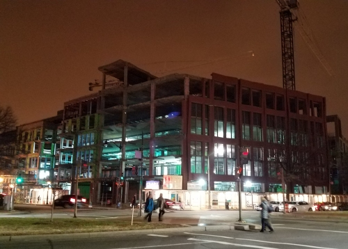 Hine Project, South Building, January 20, 2017, circa 7:30pm.
