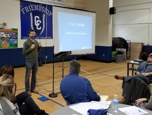 Councilmember Charles Allen kicks off the re-boot of the development process for the Hill East Boys and Girls Club on Saturday