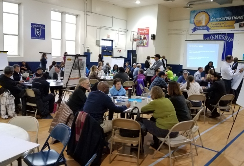 More than 40 Hill East residents came out to talk about their vision for the development.