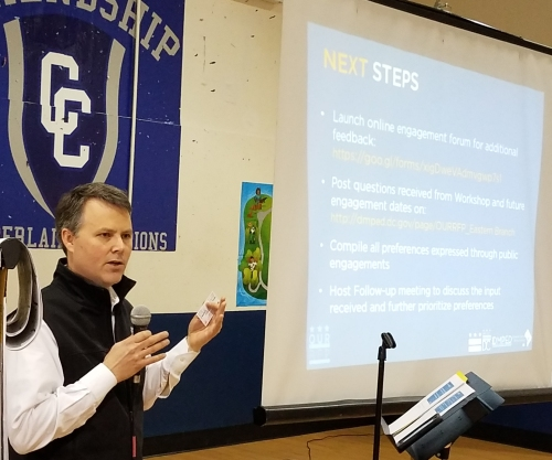 ANC6B Commissioner Daniel Ridge reiterated the preference for a community amenity expressed by the working groups at Saturday's meeting.