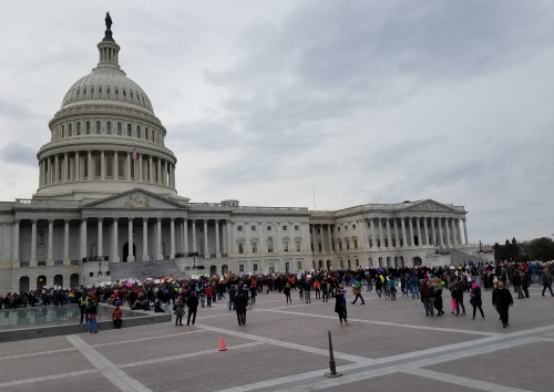 The scene at the U.S. Capitol Building, circa 3:30pm