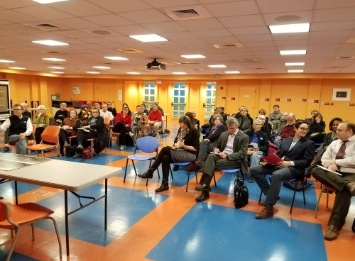 Some 40 Capitol Hill residents turned out for the community briefing