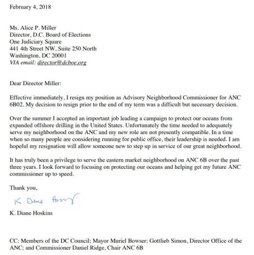 ANC6B02 Commissioner Diane Hoskins Resigns